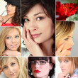 Royalty-Free Stock Photo: A collage of young and attractive women