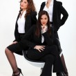 Trio of dynamic businesswomen — Stock Photo #8169114