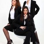 Trio of dynamic businesswomen — Stock Photo