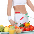 Healthy eating and weightloss — Stock Photo
