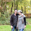 Couple taking an autumn stroll — Stock Photo #8169384