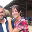 Farming couple - Foto Stock