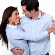 Couple dancing — Stock Photo