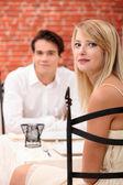 Couple in a restaurant — Foto de Stock