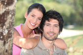 Portrait of a couple outdoors — Stock Photo