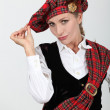 Womin Scottish costume — Stock Photo #8170637