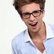 Geeky looking man with glasses — Stock Photo #8171098