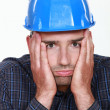 Worker under pressure — Stock Photo