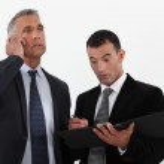 Shocked businesspartners — Stock Photo