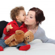 Young woman and adorable little boy — Stock Photo #8177131