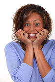 Excited woman — Stock Photo