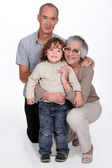 Grandparents and their grandson — Stock Photo