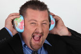Man listening to the world — Stock Photo