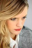 Portrait of blond businesswoman — Stock Photo