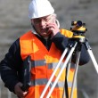 Man surveying site — Stock Photo