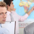 Students in geography. — Stock Photo