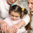Family baking together — Stock Photo