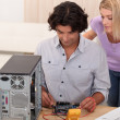 Stock Photo: Mtesting motherboard