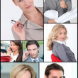 Mosaic of corporate employees — Stock Photo