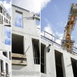 Collage of a building site — Stock Photo