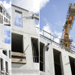 Collage of a building site - Stock Photo