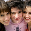 Stock Photo: Portrait of three teenagers