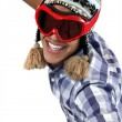 Metis boy with ski mask — Stock Photo