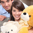 Stock Photo: Couple and plush