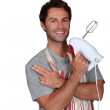Mwearing apron — Stock Photo #8324315