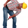 Workman looking up — Stock Photo