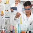 Stock Photo: Medical worker making tests in laboratory