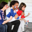 Stockfoto: Tense French soccer supporters