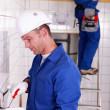 Workers renovating house — Stock Photo #8326492