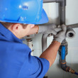 Plumber installing pipes — Stock Photo #8327134