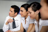 Eager businesspeople in meeting — Stock Photo