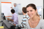 Colleagues on a vocational training — Stock Photo