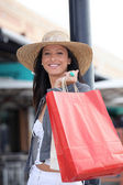 Portrait of a woman with shopping bags — Fotografia Stock