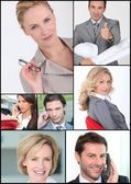 Mosaik von Mitarbeitern — Stockfoto