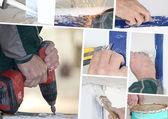 Mosaico de mejoras para el hogar — Foto de Stock