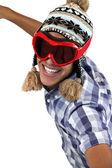 Metis boy with ski mask — Stock Photo