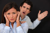 Couple having argument — Stock Photo