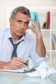Frustrated businessman — Stock Photo