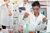 Medical worker making tests in a laboratory — Stock Photo