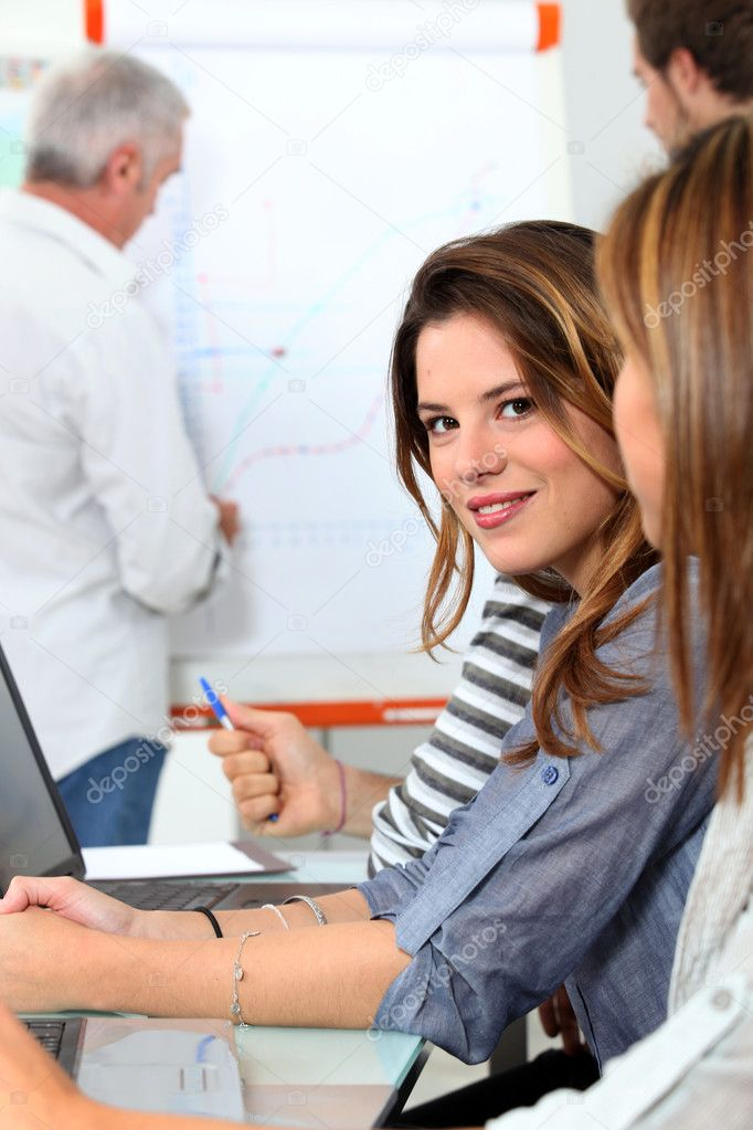 Young woman in sales training  Stock Photo #8321260
