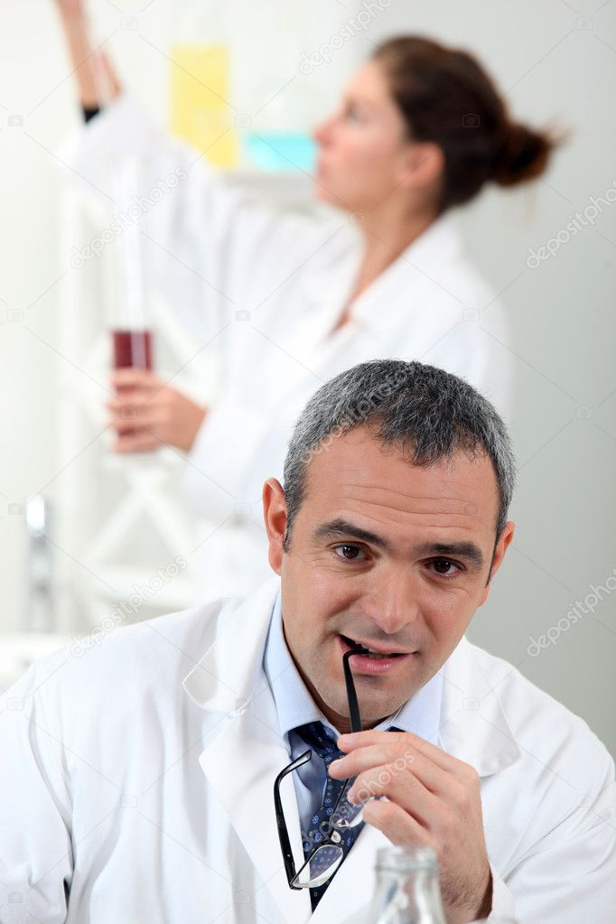 Lab technicians  Stock Photo #8325727