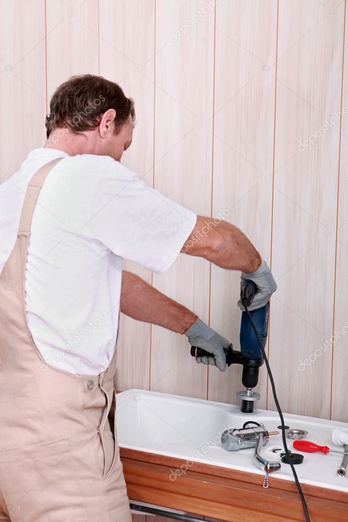 Handyman at work — Stock Photo #8327214