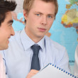 Two geography students — Stock Photo #8330061