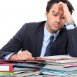 Stressed young professional — Stock Photo