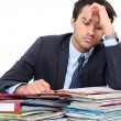 Stressed young professional - Stock Photo