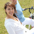 Couple out for a bike ride — Stock Photo #8332289